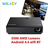 Top Quality 3500 ANSI Lumens Android 4.4 LED Wifi Home Theater Projector DL-310 1080P HD LCD TV Projector with HDMI VGA USB SD