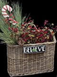 Woven Willow Wall Basket Natural Finish Country Primitive Décor