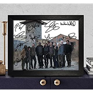 The Walking Dead Signed Autographed Photo 8X10 Reprint Rp Pp - Norman Reedus [Daryl Dixon], Andrew Lincoln [Rick Grimes], Steven Yeun [Glenn Rhee], Danai Gurira [Michonne], Melissa Mcbride [Carol Pel