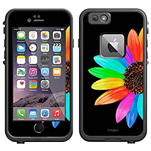 Skin Decal for LifeProof Apple iPhone 6 Case - Colorful Sun Flower on Black