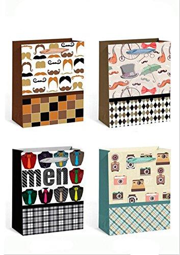 DISOK - Bolsa Papel Mens - Bolsas para Hombres, Bolsas de Regalo para Tiendas, Ofertas, Originales, Amazon