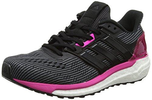 adidas Supernova W, Scarpe Running Donna Nero (Utility Black/Core Black/Shock Pink)
