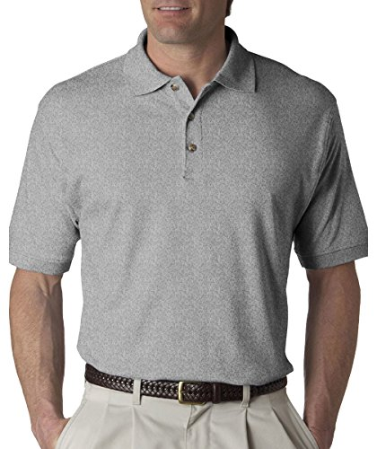 ort Ring Spun Egyptian Interlock Polo Shirt, Heather Grey, XX-Large ()