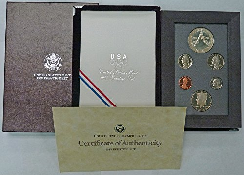 - 1988 S Prestige Proof Set 1988 Olympic Silver Dollar OGP
