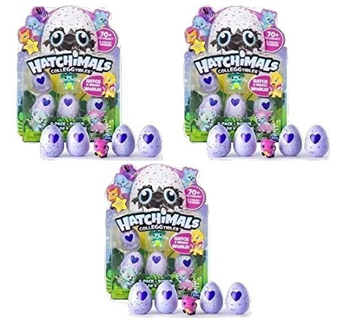 Price comparison product image Hatchimals - CollEGGtibles - 4-Pack + Bonus (Styles & Colors May Vary) - Bundle of Three