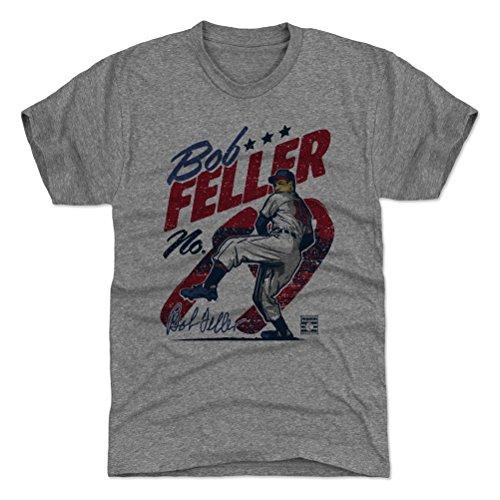 500 LEVEL Bob Feller Triblend Shirt XX-Large Tri Gray - Vintage Cleveland Baseball Men's Apparel - Bob Feller Vintage (Bob Feller Merchandise)