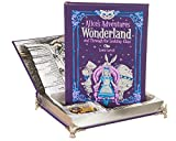 Real Hollow Book Music Box - Alice's Adventures in Wonderland and Through the Looking-Glass by Lewis Carroll (Leather-bound) (Magnetic Closure)