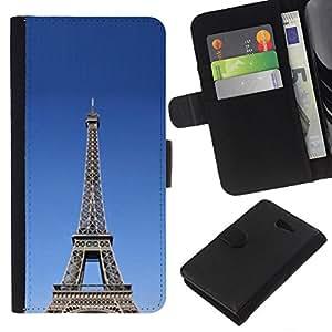 Stuss Case / Funda Carcasa PU de Cuero - Arquitectura La torre Eiffel tour - Sony Xperia M2