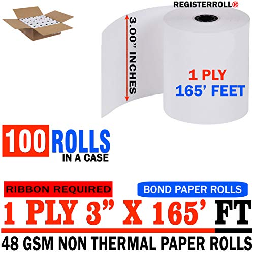 Star MICRONICS SP700 (All) 1-Ply 3 inch x 165' Paper 100 Rolls | Value Pack | from RegisterRoll ()