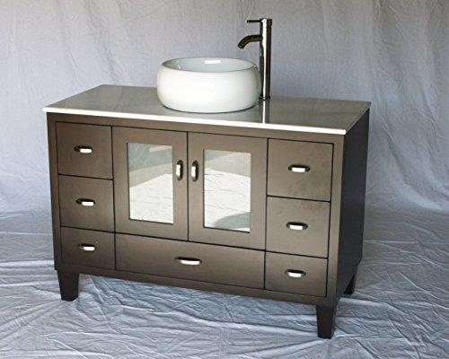 46-Inch Contemporary Style Single Sink Bathroom Vanity Mo...