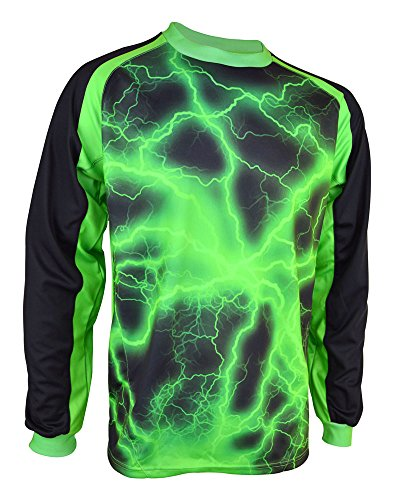 Vizari Adult Storm GK Jersey, Green/Black, Small
