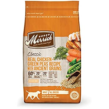 Merrick Dry Dog Food with added Vitamins & Minerals for All Breeds, 25-Pound, Chicken