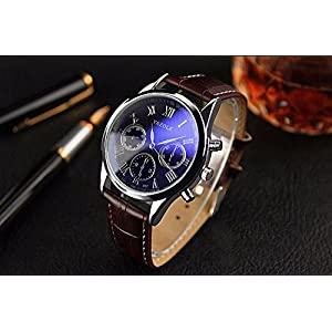 YAZOLE Wrristwatch Wrist Watch Men 2016 Top Brand Luxury Famous Male Clock Quartz Watch Man Hodinky Relogio Masculino Ceasuri.Blrown Leather.
