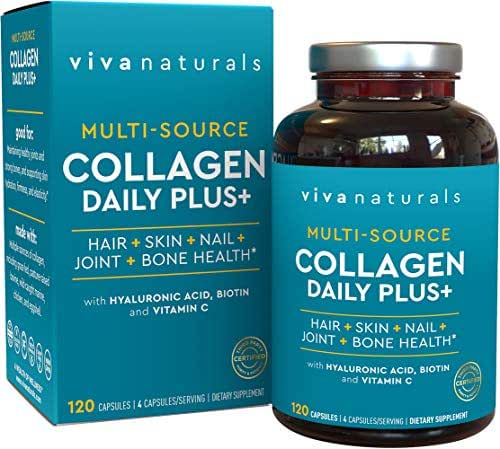 Multi Collagen Pills - Effective Collagen Supplements for Healthy Hair, Skin & Nails, 120 Collagen Capsules for Women and Men