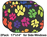 Liili Car Sun Shade for Side Rear Window Blocks UV Ray Sunlight Heat - Protect Baby and Pet - 2 Pack Image ID: 24850738 Seamless Pattern Animal Footprints