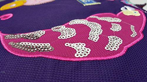 GFM farbigen Cartoon Messenger Cross Body Multi Purpose Bag–Casual Tag Verwendung Fitnessstudio, Sport, Urlaub, Strand etc. Style 2 - Purple Floral Birds (DUV056)