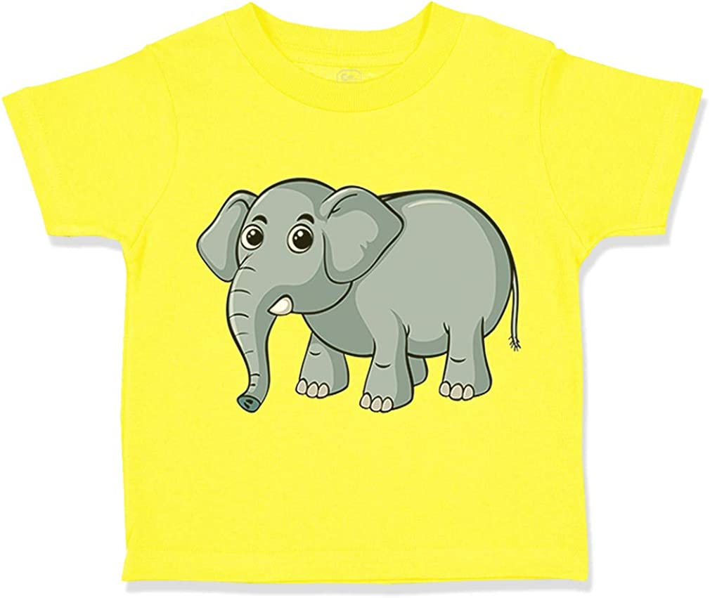 Custom Toddler T-Shirt Elephant Safari Cotton Boy /& Girl Clothes