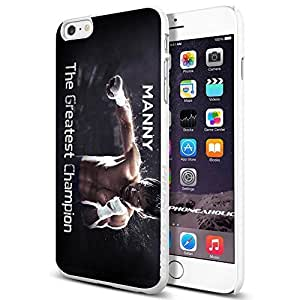 diy zhengManny Pacquiao The Gretest Champion, Boxing, Boxer,Cool Ipod Touch 4 4th Smartphone Case Cover Collector iphone TPU Rubber Case White