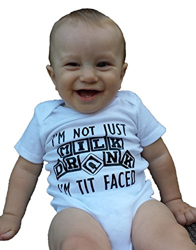 I'm Not Just Milk Drunk I'm Tit Faced - Carter's Brand Onesie Bodysuit (6-12 Months)