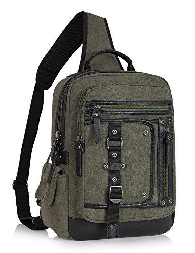 Leaper Messenger Bag Sling Bag Outdoor Cross Body Bag Shoulder Bag Army Green