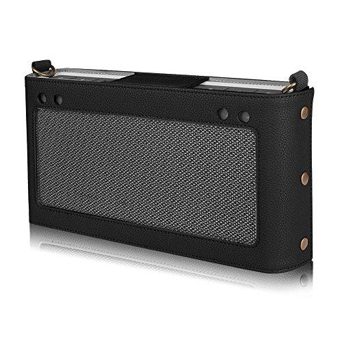 Fintie Bose SoundLink Bluetooth Speaker III Hülle Abdeckung - Hochwertiges Kunstleder Schutzhülle Tasche Case mit Abnehmbarem Band für Bose SoundLink Bluetooth Speaker III 3, Schwarz