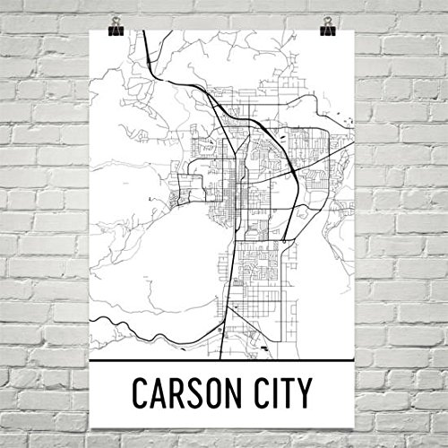 Carson City Nevada Map (Carson City Map, Carson City Art, Carson City Print, Carson City NV Poster, Carson City Wall Art, Gifts, Map of Nevada, Poster, Nevada Poster 24
