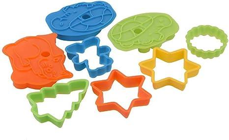 frutas fondant TSKDKIT 32 moldes de pl/ástico para galletas moldes para tartas moldes de galletas para ni/ños galletas s/ándwich