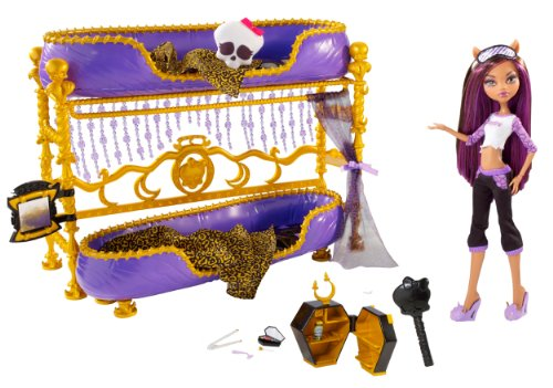 Monster High Dead Tired Clawdeen Wolf Doll And Bed Playset (Monster High Doll Clawdeen)
