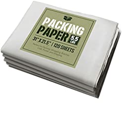 Newsprint Packing Paper: 5.5 lbs (~125 S...