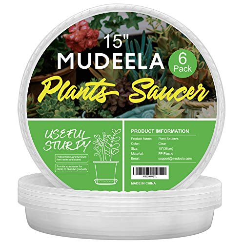 MUDEELA 6 Pack of 15 inch Plant Saucer, Durable