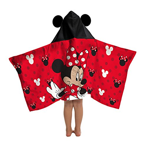 Disney Mickey Mouse/Minnie Mouse Love Cotton Hooded Cape Bath/Pool/Beach (Hooded Bath Towel Pattern)