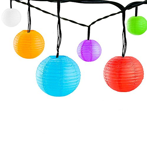 Solar-Lantern-Outdoor-String-Lights-18ft-30-LED-with-Multicolor-Nylon-Paper-Chinese-Lanterns-Decorative-Hanging-Ambiance-Lighting-for-Patio-Gazebo-Garden-Path-Yard-Party-Christmas-Holiday-Festival