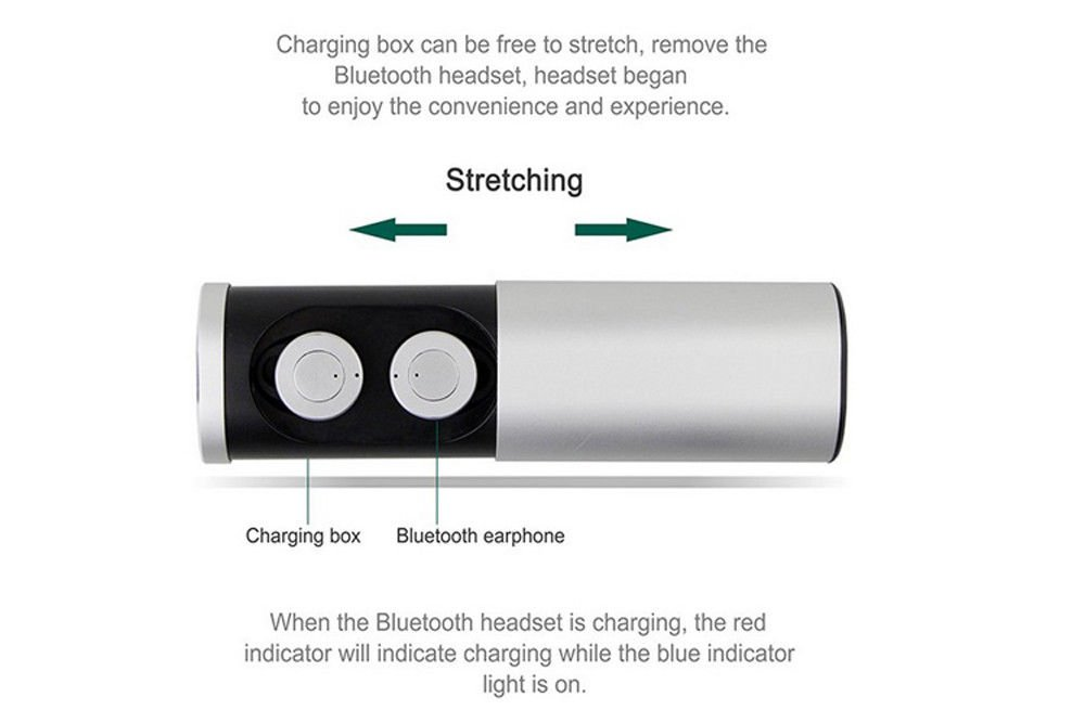 Amazon.com: TEBERBOOM TWS B1 Headset Wireless True Wireless Bluetooth 4.1 Earbuds Charging Socket Mini Stereo Earphone auriculares inalambrico (Silver): ...