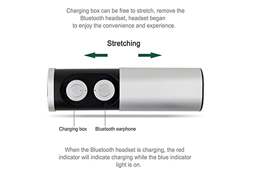Amazon.com: TEBERBOOM TWS B1 Headset Wireless True Wireless Bluetooth 4.1 Earbuds with Charging Socket Mini Stereo Earphone auriculares inalambrico (Rose ...