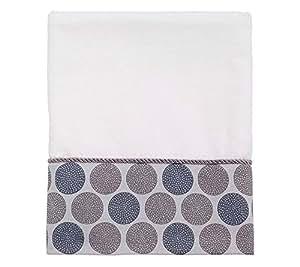 Avanti Linens Dotted Circles Bath, 038701WHT, White, Medium