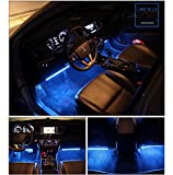 Car-LED-Strip-Light-Wsiiroon-4pcs-48-LED-Multicolor-Music-Car-Interior-Lights-Under-Dash-Lighting-Waterproof-Kit-with-Sound-Active-Function-and-Wireless-Remote-Control-Car-Charger-IncludedDC-12V