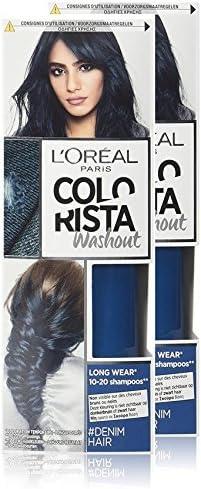 L Oréal Paris colorista Washout Coloración temporal larga duración Cabello Denim – Juego de 2