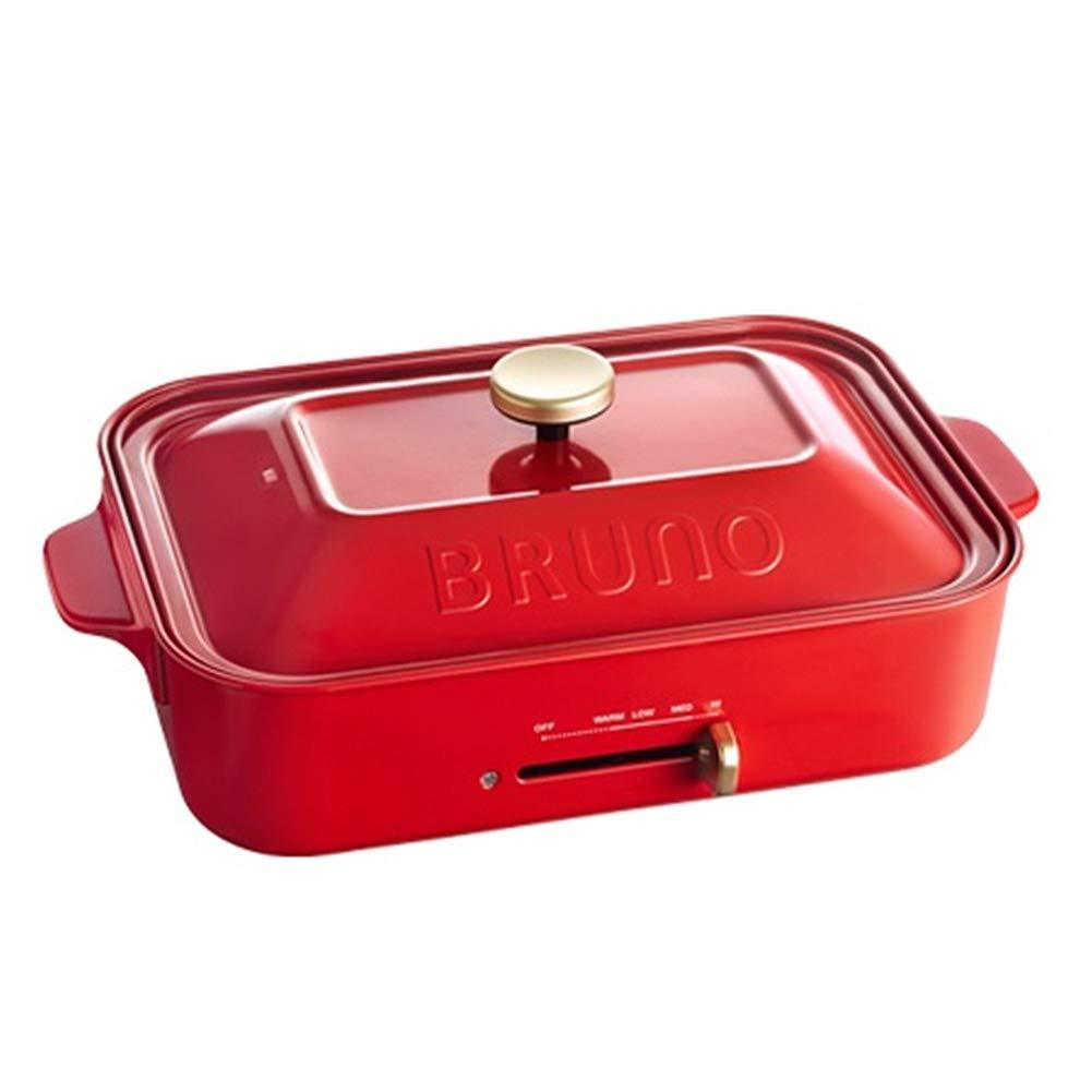 bruno コンパクトホットプレート [ レッド / 3種深鍋セット ]   B07J6FN54G