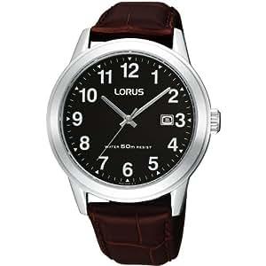 Lorus RH927BX9 Men's Analogue Leather Strap Watch