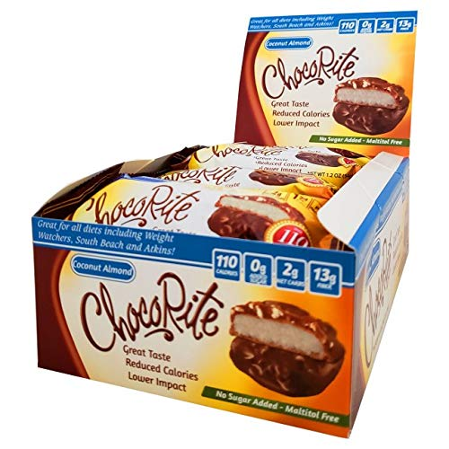 HealthSmart Chocorite Coconut Almond 16 Pack No Sugar Added Gluten Free Kosher
