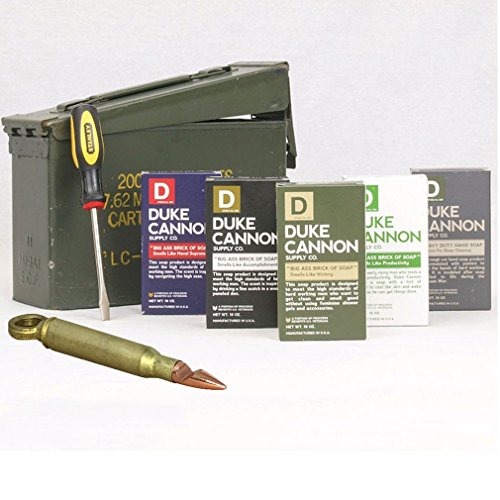 Duke Cannon Ammo Can Gift Set - Limited Edition U.S. Military Field Box Gift Pack and Bullet Bottle Opener-Corkscrew