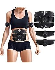 ZHENROG EMS Elektrische Muskelstimulation Speziell für Fettverbrennung Bauch, Arme & Beine - muskeltrainer Stimulator Elektrostimulation,Elektroden Pads, Elektrostimulatoren für Herren Damen Geschenk