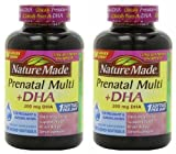 natures made prenatal vitamins - Nature Made Prenatal Multi + Dha, 200mg 150 Softgels (Two Bottles each of 150 Softgels)