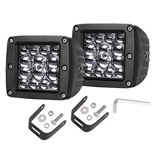 Swatow Industries LED Cube Lights 2PCS 84W Osram Quad Row 3 Inch LED Pod Lights Off Road Spot Beam Driving Lights Fog Lights Square Work Lights for Truck Offroad SUV ATV UTV Motorcycle Boat