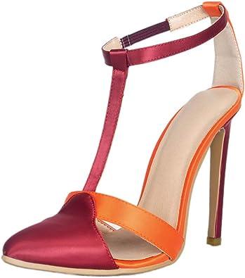 CASSOCK Ladies Handmade Patchwork Peep-Toe High Heel Platform Sandals Fashion Summer Shoes