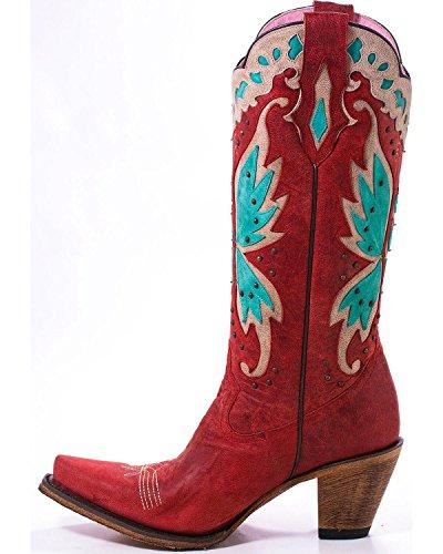 Lane Kvinna Skräp Gypsy Dag Drömmare Strawberry Cowgirl Boot Klipp Toe Röd 9 M