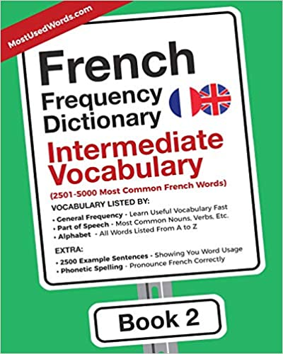 Amazon Com French Frequency Dictionary Intermediate Vocabulary