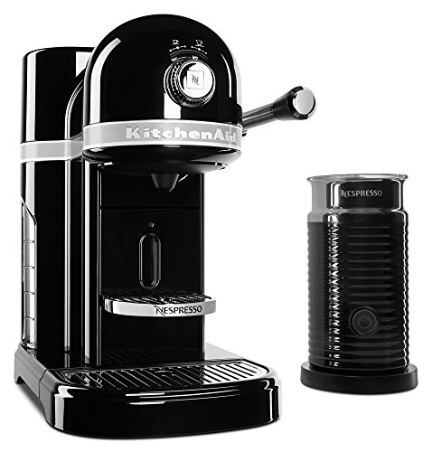 KitchenAid KES0504OB Nespresso Bundle, Onyx Black (Kitchenaid Espresso Machine)
