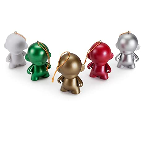 Amazon.com: 5 Pack Of DIY Munny Ornaments Designer Vinyl Mini Figure ...