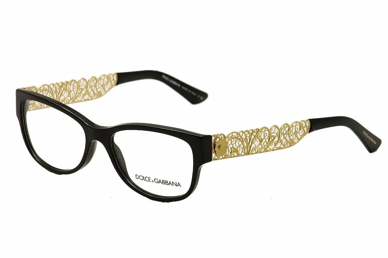 Amazon.com: Dolce & Gabbana DG3185 Eyeglasses-501 Black-53mm: Shoes